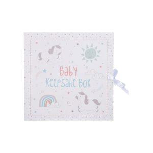 CAS004_A_Baby_Unicorn_Keepsake_Box_with_Drawers
