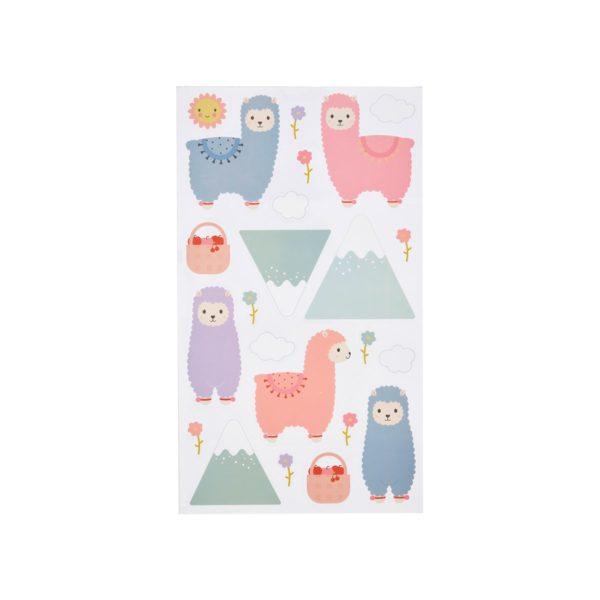 YEE004_A_Little_Llama_Wall_Stickers