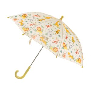 UBA011_A_Savannah_Safari_Kids_Umbrella_Open