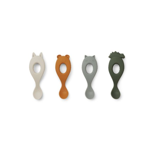 Liva_20Silicone_20Spoon_204_20Pack-Tableware-LW13044-9317_20Hunter_20green_20mix