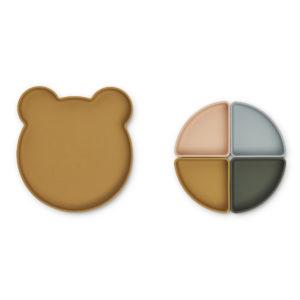 LW14317 - Arne divider plate - 9462 Mr bear golden caramel multi mix - Extra 1